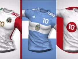 Las camisetas de Italia, Argentina y Japón, como sus banderas. @FRANCOOC07