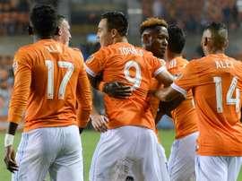 Houston Dynamo sigue  invicto en la nueva temporada al vencer por 3-1 a Columbus. HoustonDynamo