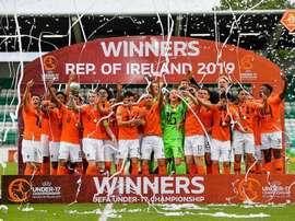 Holanda sub-17 conquista o bicampeonato europeu. Twitter/KNVB