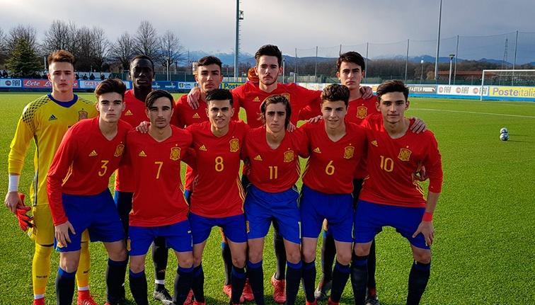 Los jugadores de España Sub 17 se impusieron a Italia. SeFutbol