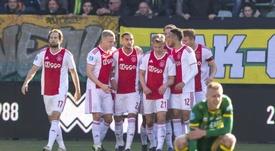 El Ajax vapuleó al ADO Den Haag pese a empezar perdiendo. Twitter/AFCAjax