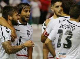 El Albacete se ha llevado una sufrida victoria. AlbaceteBalompie