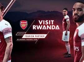 Ese parche no se lo veremos al primer equipo, pero sí al Sub 23 y al Femenino. Twitter/RDBRwanda