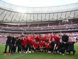 El Atlético se medirá al Athletic en las 'semis' de la Copa del Rey Juvenil. Twitter/AtletiAcademia
