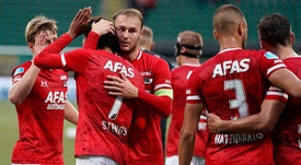El AZ ha dado la sorpresa al ganar 0-4 al PSV. Twitter/AZAlkmaar