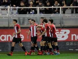 El Bilbao Athletic ganó 1-0 a la Cultural. Twitter/AthleticClub