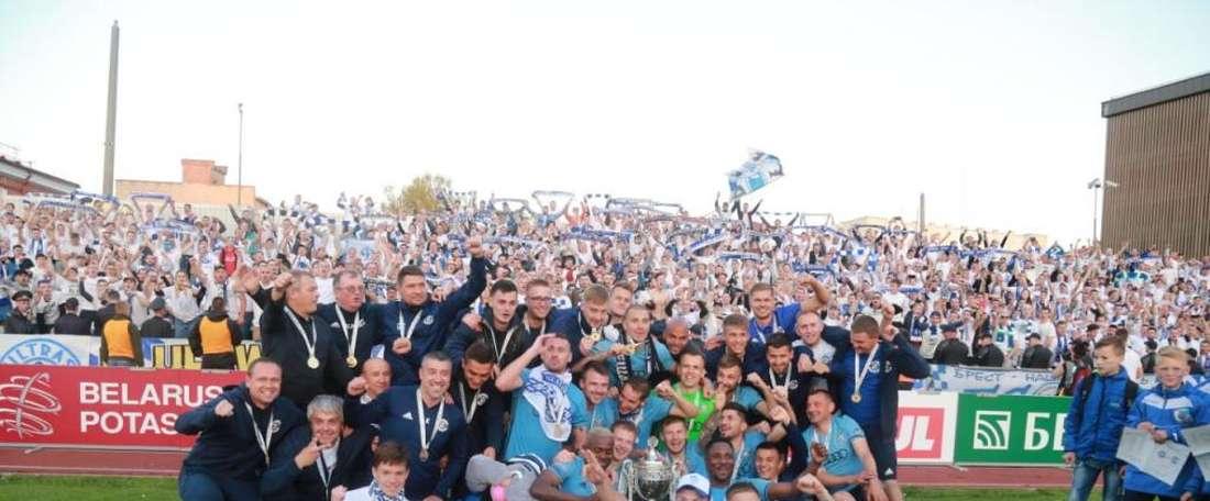 El Dinamo de Brest ha revalidado el título de campeón de Copa. Twitter/dynamobrest