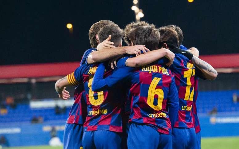 El Barça B también se mueve. Twitter/FCBarcelonaB