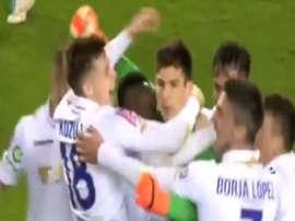 Karlo Letica ha dado el triunfo al Hajduk, pero marcando el gol de la victoria. ArenaSport3