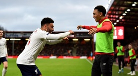 Alex Oxlade-Chamberlain celebrating after his goal. Twitter/LFC