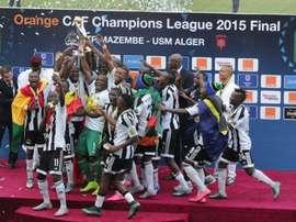 Los futbolistas del Mazembe celebran el título de la Liga de Campeones de la CAF 2015. Twitter