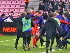 El Midtjylland danés apeó, por penaltis, a la Roma. FCM