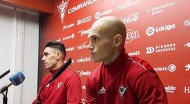 Guridi y Merquelanz analizaron el duelo de Copa. Twitter/CDMirandes