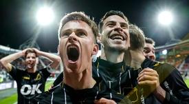 El NAC Breda es el 'matagigantes' de esta temporada. Twitter/NACnl