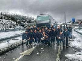 Hasta dos veces se quedaron varados en la carretera. Facebook/udpaiosaco