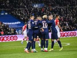 Match nul entre le PSG et Monaco. Twitter/PSG_espanol