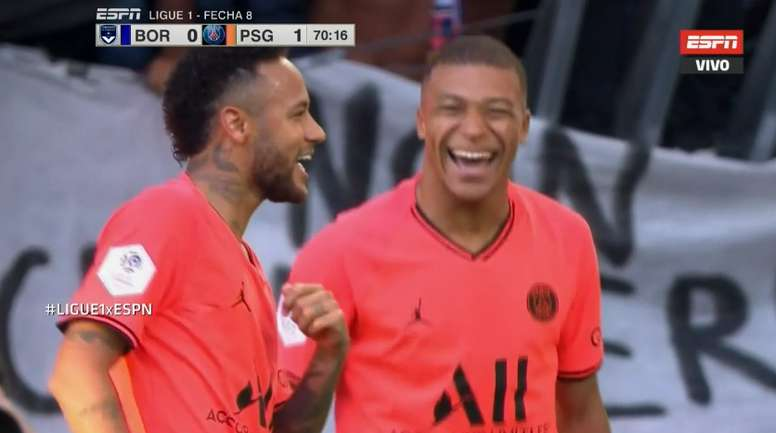 Neymar had a smile on his face after scoring v Bordeaux. ESPN