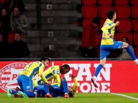 El PSV pecó de confianza ante este Segunda. Twitter/RKCWAALWIJK