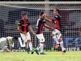 Los futbolistas del San Lorenzo celebran uno de los cuatro tantos marcado a Boca Juniors en la Supercopa de Argentina. Twitter