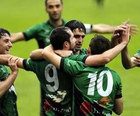 Corbalán anotó el último gol del partido. SestaoRiver