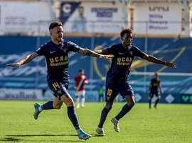 El UCAM Murcia venció 1-0. Twitter/UCAMMurciaCF