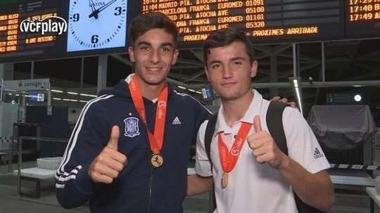 Ferran Torres (left), Valencia's latest talent. ValenciaCF