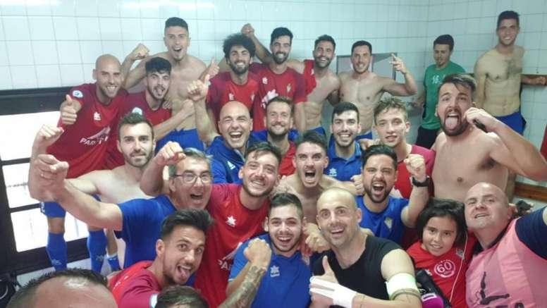 El Villarrobledo ascendió tras remontar un resultado adverso. Twitter/CPVillarrobledo