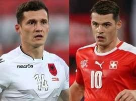 Los hermanos Xhaka volvieron a reencontrarse sobre el césped tras la Euro. UEFA