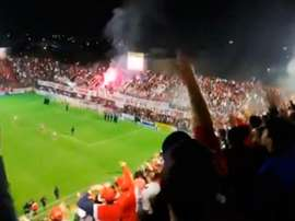 Los hinchas de San Martín de Tucumán se hicieron escuchar. Captura/FOXSports