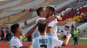 Argentina Sub 17 se proclamó campeona del Hexagonal. Twitter/Sub17Peru2019
