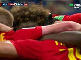 Bélgica se clasificó 'in extremis'. Captura/DirecTVSports