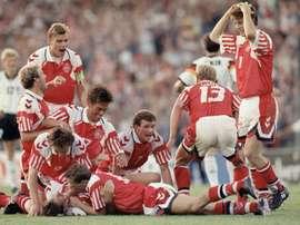 Dinamarca logró uno de los hitos más sorprendentes en la historia del fútbol. AFP