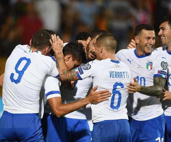 Itália vira para cima da Armênia. AFP