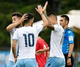 La Lazio goleó 5-0 al Virtus Entella. Twitter/SSLazio
