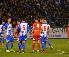 No hubo goles en El Toralín. Twitter/CyDLeonesa