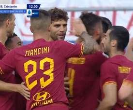 Cristante ouvre le score et Dzeko enfonce Sassuolo. Captura/Voetbal