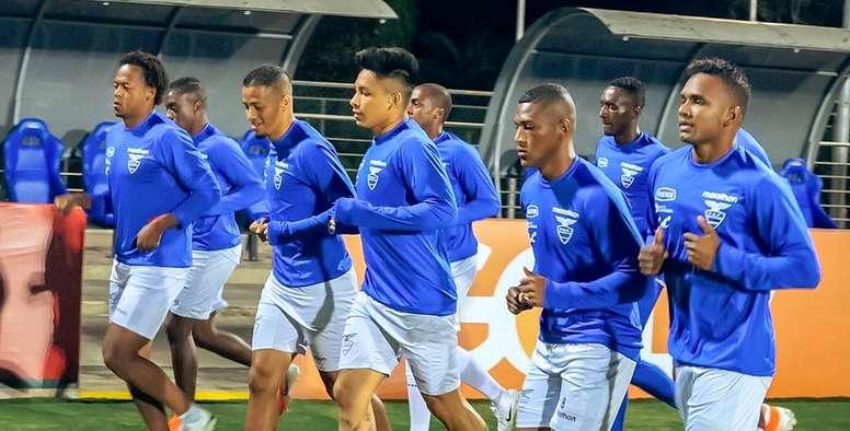 Ecuador centra sus entrenamientos en la presión. Twitter/FEFEcuador