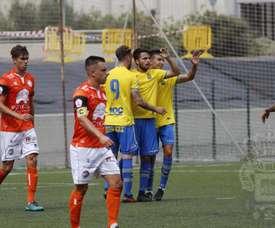 Las Palmas Atlético lleva cuatro duelos sin marcar. Twitter/UDLPCantera