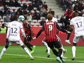 El Niza-Toulouse se jugó sin tecnología de línea de gol. OGCNice