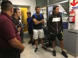 Los jugadores de Platense acudieron a la comisaría para denunciar el robo. Platense