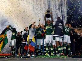 Los jugadores de Portland Timbers celebran el título de la MLS. Twitter