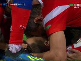 Cheryshev abrió el marcador en el Rusia-Croacia. Captura/DirecTVSports