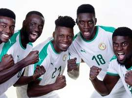 Los jugadores de Senegal posan antes de la foto oficial del Mundial. FIFA