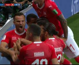 Switzerland levelled in the 50th minute. Twitter/Teledoce