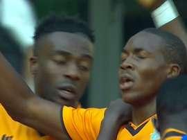 Los jugadores de Zambia celebran una histórica victoria ante Argelia. Twitter