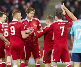 The match between Aberdeen and Rangers was marred by a bottle throwing incident. AFC
