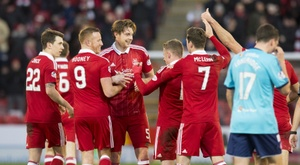 The match between Aberdeen and Cove Rangers was abadoned due to a serious injury. AFC