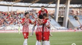 El Almería quiere seguir fuerte. Twitter/LaLiga