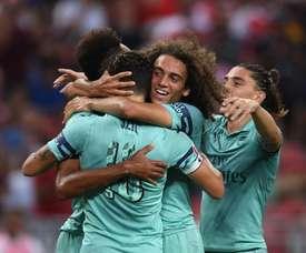 O Arsenal atropelou o PSG. Twitter/Arsenal