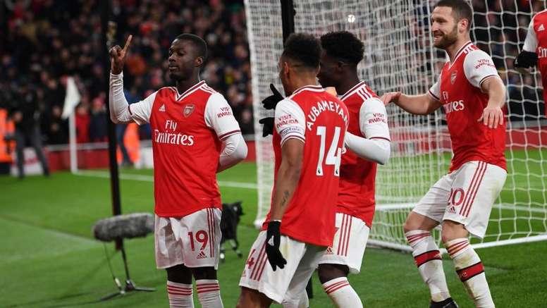 Arsenal goleia Newcastle no 2º tempo. Twitter/Arsenal